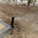 Test systemu nawadniania trawnika
