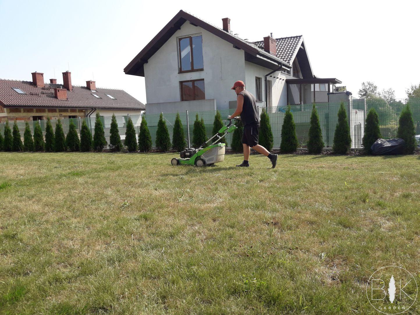 koszenie trawnika przed wertykulacja