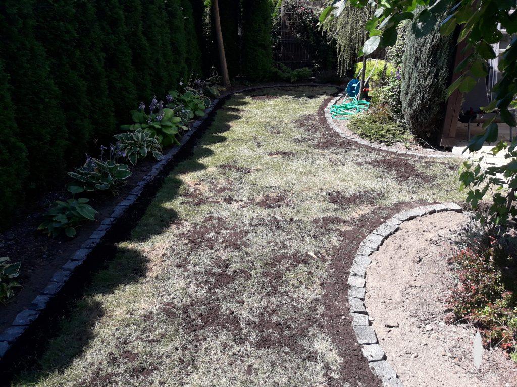 jesienne piaskowanie trawnika