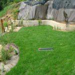 ZAłożony trawnik z rolki