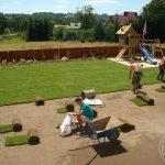 układanie trawnika z rolki Gaj
